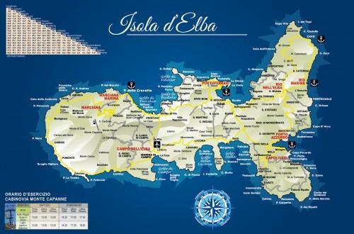 Mappa Isola d'Elba: ecco dove trovarla