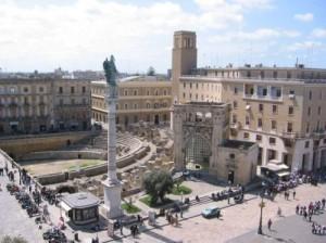 Vista dell'anfiteatro di Lecce
